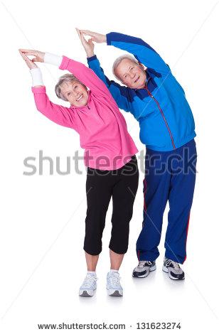 Stock-photo-portrait-of-a-senior-couple-exercising-on-white-background-131623274